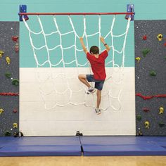 Go Wild on Everlast Climbing's Safari™ Wild Web!! The Safari™ Wild Web is a cargo net climber that brings fun and excitement to your activity space! This 6' x 7' indoor cargo net climber provides oppo