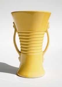 Art Deco McCoy Pottery Yellow Vase