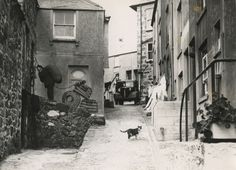 St Ives 1950 the coal man delivering a sack of coal