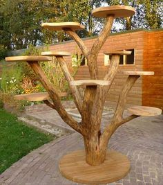Diy cat Ideas - Diy Cat Toy and Diy Cat Tree and Diy Cat house - It& time for you to diy cat toys in order to have some cat fun. We hope that this diy cat wil - Outdoor Cat Tree, Diy Cat Tree, Cat Towers, Cat Playground, Cat Condo, Buy A Cat, Cat Furniture, Furniture Design, Garden Projects