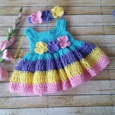 Crochet Baby Dress Pattern, Easter Crochet Pattern, Months Baby Dress, Baby Dress Pattern Only, – Pasión de ganchillo Crochet Baby Dress Pattern, Easter Crochet Patterns, Baby Dress Patterns, Crochet Baby Clothes, Knitting Patterns, Crochet Tree, Crochet Yarn, Crochet Flower, Crochet Dress Outfits