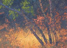 Birches Enveloped III  39 x 54 inches, oil on linen On Nature's Terms: Paintings of Thomas Paquettte