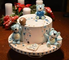 Little Teddy Bears for Baby Shower - Cake by Klimbim