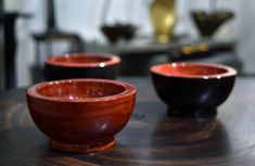 Lacquer bowls by Alexander Lamont