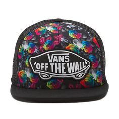 87fd1f89ca2 The Beach Girl Trucker Hat is a 100% polyester adjustable printed trucker  hat with a. Vans
