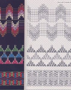 Embroidery Patterns, Hand Embroidery, Swedish Embroidery, Monks Cloth, Swedish Weaving, Needlework, Quilts, Creative Crafts, Painting On Fabric