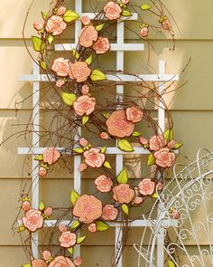 Way to present cookies at your next garden party: climbing on a trellis! By Julia M. Usher