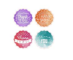 Custom Labels, Stickers, Business Cards, Car Vinyl + by Thank You Stickers, Thank You Cards, Business Labels, Business Supplies, Watercolor Stickers, Jar Labels, Start Up Business, Goodie Bags, Watercolor Background