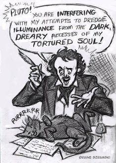 Edgar Allan Poe… and the universal problem of writers with cats. Edgar Allan Poe, Edgar Allen Poe Quotes, Edgar Allen Poe Tattoo, Scott Fitzgerald, Writing Humor, Gothic, Anais Nin, Book Authors, Books