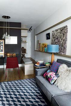 Apartamento pequeno - Projeto Mandril Arquitetura
