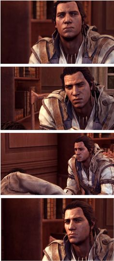 It's so sad to know how much death Connor has seen. It's just hit him when he was young and haunted him until the end.