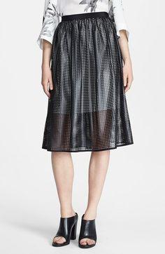 { Pavement Faux Leather Midi Skirt }