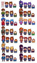 Toddlers Take After Parents. With and Without Overalls at Stardew Valley Nexus - Mods and community