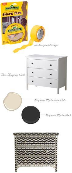 DIY painted furniture idea: Wisteria's chevron bone chest
