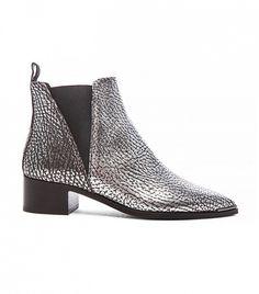 Acne Studios Metallic Leather Jensen Boots
