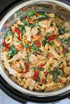 Instant Pot Creamy Tuscan Chicken Pasta A must try the pasta recipe! If you have not broken open that Instant Pot then now is the time! This Instant Pot Creamy Tuscan Chicken Pasta Recipe is one of the tastiest things to make, and it's so EASY TO MAKE! Tuscan Chicken Pasta, Chicken Pasta Recipes, Instapot Recipes Chicken, Pasta In A Pot Recipe, Tuscany Chicken Recipe, Pasta Recipes Crockpot, Crock Pot Pasta, Pasta With Chicken, Quick Chicken Dishes
