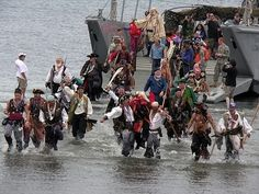 Seattle SeaFair Pirates, annual one-day summer festival at Alki Beach, West Seattle. America Washington, Seattle Washington, Washington State, West Seattle, Seattle Area, Seattle News, Seattle Photos, Cloudy Weather, Moving To Seattle