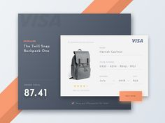 Dribbble - Day 002 - Credit Card - Daily UI by Willionaire