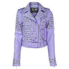 Studded Leather Jacket [LILAC]