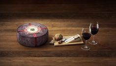 "Sartori Merlot BellaVitano Cheese. By wedding this rich, creamy cheese to the berry and plum notes of Merlot, we've created a marriage of flavors destined to make your taste buds say, ""I do."" On that note, if you invite a few friends from our pairing guide — say, toasted walnuts, thin slices of prosciutto and semisweet chocolates for dessert — the honeymoon never has to end."