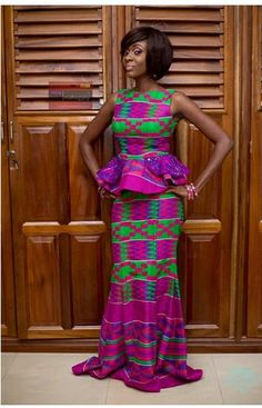 Make Fashion Statement With Kente Mixed With Lace - Sisi Couture African Print Skirt, African Print Dresses, African Fabric, African Dress, African Clothes, African Attire, African Wear, African Women, Kente Dress