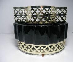 Vintage-Starlite-Gleam-3008-TV-Lamp-Black-with-Brass-Base-Maddux-1950s-Light