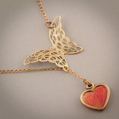 Romantic autumn themed jewellery with real leaves preserved in resin and hand-shaped filigree detail.