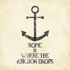 Where The Anchor Drops Art Print- DG memories :)