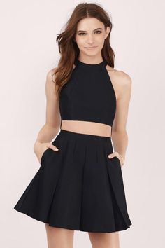 Florence Halter Skater Dress at Tobi.com #shoptobi