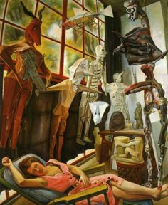 Diego Rivera, The Painter's Studio, 1954. Diego Rivera (1886-1957) was a prominent Mexican painter born in Guanajuato and husband of Frida Kahlo. His large wall works in fresco helped establish the Mexican Mural Movement in Mexican art. Between 1922 and 1953, Rivera painted murals among others in Mexico City, Chapingo, Cuernavaca, San Francisco, Detroit, and New York City.