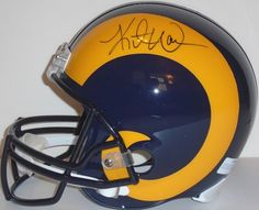 Kurt Warner signed St Louis Rams Riddell full size football helmet w/ proof photo.  Proof photo of Kurt signing will be included with your purchase along with a COA issued from Southwestconnection-Memorabilia, guaranteeing the item to pass authentication services from PSA/DNA or JSA. Free USPS shipping. www.AutographedwithProof.com is your one stop for autographed collectibles from Saint Louis sports teams. Check back with us often, as we are always obtaining new items.