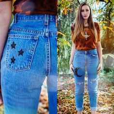 ✨ Two more pairs of Luna mom jeans in stock (UK 6 & 12). £26 a pop from our online shop ✨  Tag a friend who's bum would look THIS good in these jeans!! #asosmarketplace @asosmarketplace #momjeans #adorned #moon #luna #reworked #recycled #upcycled #ecofashion #ethicalfashion  #ETHICALFASHION #ADORNED #UPCYCLED #MOMJEANS #MOON #ASOSMARKETPLACE #RECYCLED #LUNA #ECOFASHION #REWORKED