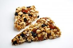 1 cup gluten-free rolled oats, such as Bob's Red Mill 1 cup raw sunflower seeds (may substitute chopped raw nuts) 1 cup brown rice cereal 1/2 cup honey 1 cup dried fruit, such as raisins, blueberries, chopped apricots or unsweetened cranberries