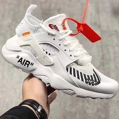 Off white x nike air huarache ultra - shoecolla Nike Huarache, Nike Air Huarache Ultra, Sneakers Mode, Best Sneakers, Sneakers Fashion, Shoes Sneakers, White Nike Shoes, Off White Shoes, White Nikes
