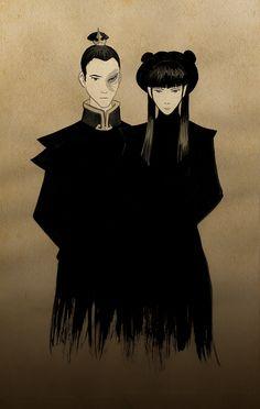 Zuko and Mai (original art by the creators)