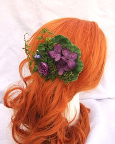 Plum Forest Fairy Flower Fern and Moss Plum by RuthNoreDesigns, $15.00