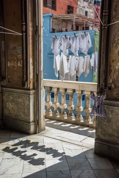 Laundry dries out in Cuba in this photo by Janet Jeffers.