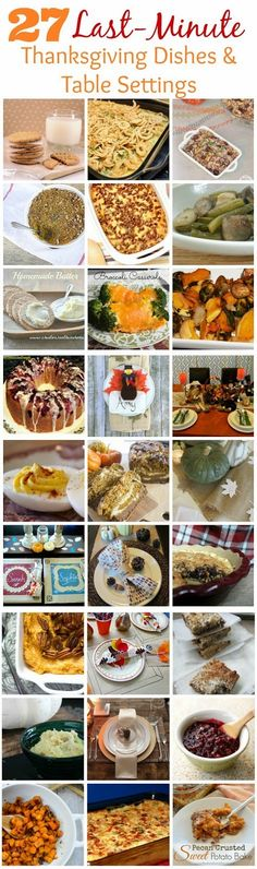 Glamorous, Affordable Life: 27 Last-minute Thanksgiving dishes and table settings