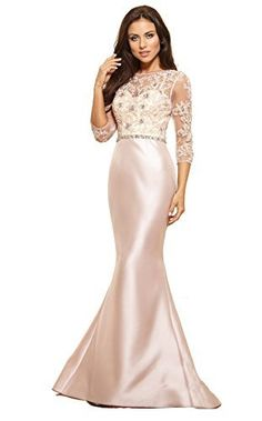 Weddings & Events Generous Elegant Long Sleeve Lace Mermaid Evening Dresses 2019 Ivory Boat Neck Satin Occasion Party Gowns Vestido De Festa Kaftan Can Be Repeatedly Remolded.