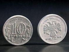 Бетонные отливки в виде монет