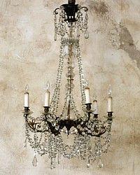 Exquisite Antique European Brass Chandelier Six Arm Crystals-gilt, leaves, art, nouveau,French,gold,elegant, lighting, lamp,dining room, livingroom,classic, home,bed, bedroom, living, diningroom