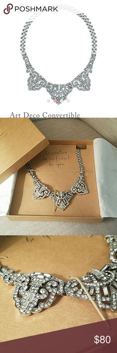 Chloe + Isabel Art Deco Convertible Necklace New in original box.  Never worn. Includes gold chain as well (pic 4) lovely statement piece. No trades Chloe + Isabel Jewelry Necklaces