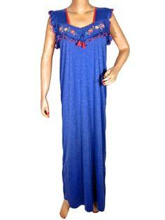 Kaftan Patio Dresses Floral Embroidery Royal Blue Long Kaftans Resort Wear Medium Size Mogul Interior,http://www.amazon.com/dp/B00EI8SFQQ/ref=cm_sw_r_pi_dp_y9Rcsb1Q0T3XRW33