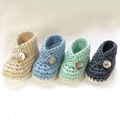 Crochet baby booties pattern shoes unisex boys or girls by ketzl Crochet pattern by Jennifer Lownds, Australia. Shown made with Morris and Sons Avalon 10ply cotton yarn Worsted weight. Great to make for a baby shower gift.