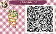 Fraiseberry in AC New Leaf — seraphinaewings: Sakura petal laden brick path.
