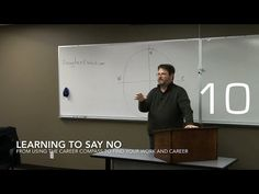 Career Opportunities with Douglas E. Welch » Learning To Say No from Using the Career Compass to Find Your Work and Career [Video] (1:01)