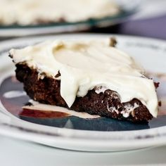 Fudgy brownie baked in an Oreo crust then topped with a delicious cream cheese icing