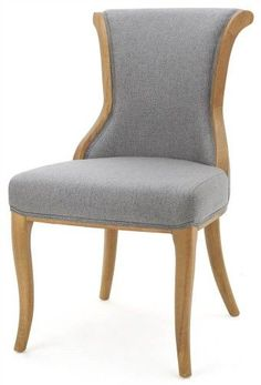 Contemporary Upholstered Dining Chair In Gray Set Of 2
