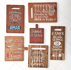 Diy And Crafts, Arts And Crafts, Holiday Club, Letter E, Wood Letters, Hand Lettering, Chalkboard, Kitchen Decor, Sweet Home