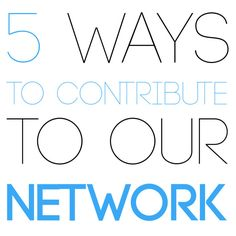 You want to give to our network but aren't really a singer or producer? There are plenty of ways to contribute to our network.